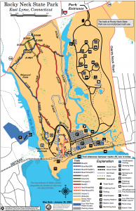 Map of hiking trails in lyme ct